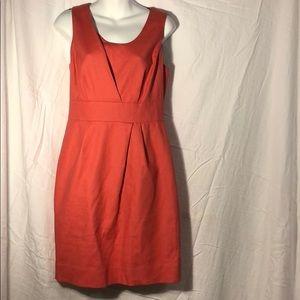 Pink J Crew sleeveless business dress
